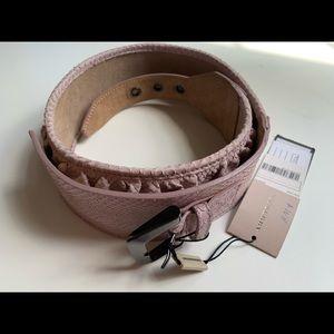 Auth Burberry python snakeskin belt pink sz 30/75